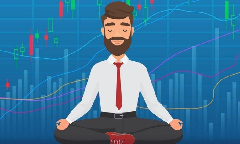 ilustración de hombre de negocios meditando